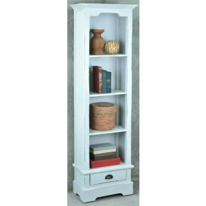 Display Cabinet - Pearl Gray Finish