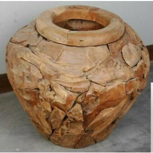 Wooden Vase - Natural