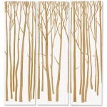 Birch Forest Wall Decor, White, Set Of 3
