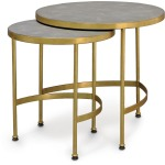 Wells Faux Shagreen Side Table, Set Of 2