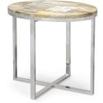 Petrified Wood Oval Side Table