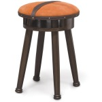 Oxer Leather Strapped Stool