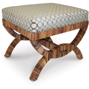 Havana Upholstered Bridge Stool In Com (nfs)