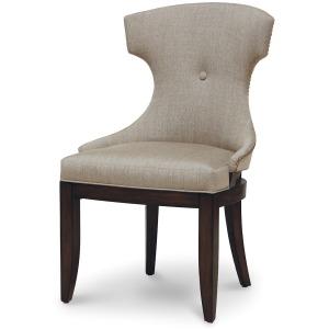 Rhodes Upholstered Side Chair, Dark Espresso