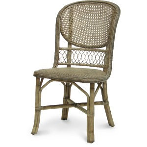 Antique Cane Side Chair, Grey