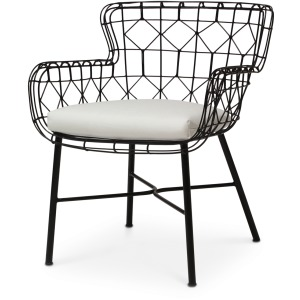 Capri Outdoor Arm Chair, Black