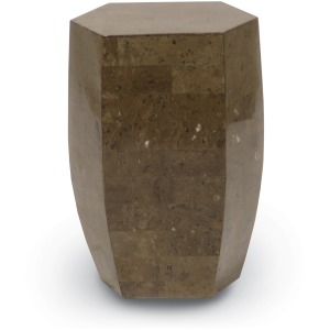 Indoor/outdoor Taupe Stone Octagon Stool