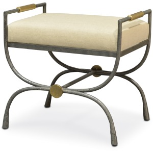 Devon Upholstered Metal Stool