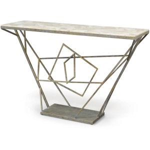 Loren Fossilized Clam Console Table