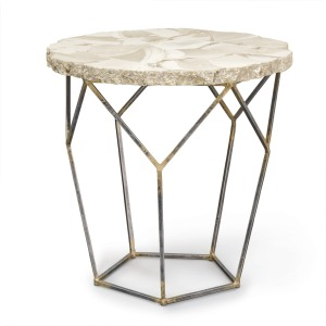 Loren Fossilized Clam Side Table