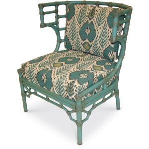 Rattan Klismos Lounge Chair In Com (nfs)