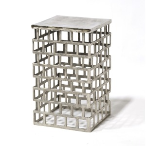Emmet Side Table, Silver