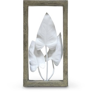 Indoor/outdoor Anthurium Leaves Shadow Box