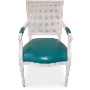 Lyon Cane Back Arm Chair In Col (nfs)