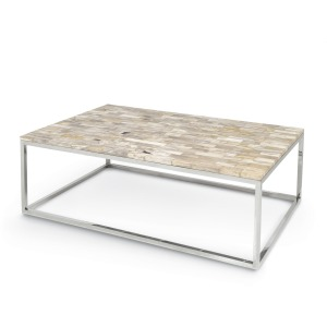 Mosiac Petrified Wood Coffee Table, Large