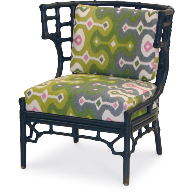 Tremendous Rattan Klismos Lounge Chair In Com Nfs By Palecek D902 Theyellowbook Wood Chair Design Ideas Theyellowbookinfo
