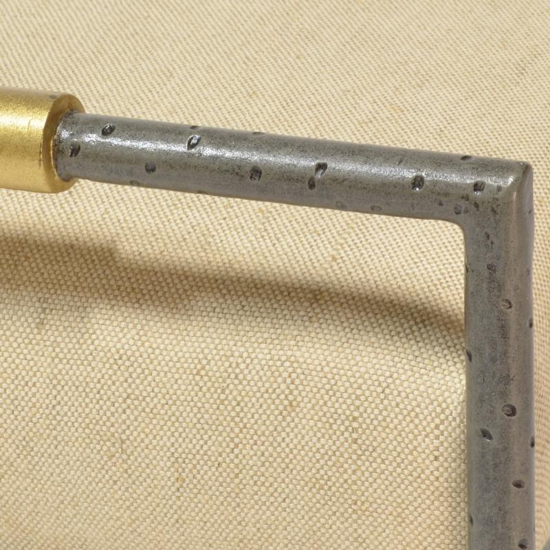 Devon Upholstered Metal Stool