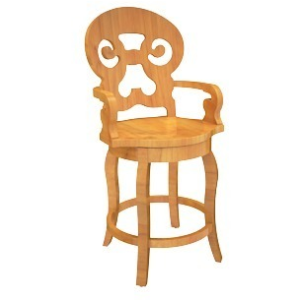 "Alsace 24"" Swivel Arm Bar Stool"