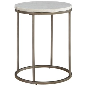 Julien Round End Table -Marble