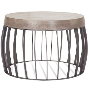 Elletra Round Cement Cocktail Table