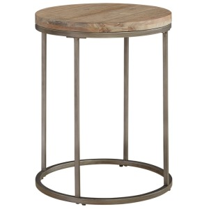 Julien Round End Table -Acacia