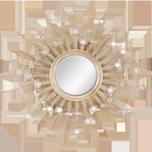Silver Sunburst Beveled Mirror