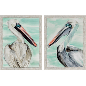 Turquoise Pelican S/2
