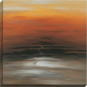 Orange Sky Hand Painted Oil