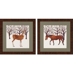 Buck/Horse - Set of 2