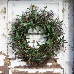 Gathered Olive & Twig Wreath