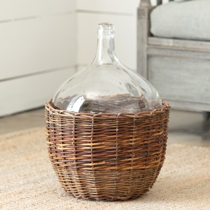 Willow Covered Cellar Bottle