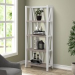 American Modern - Cotton Etagere Bookcase