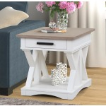 Americana Modern Cotton End Table