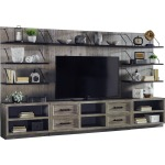 Billboard 3 PC Entertainment Wall - Fieldstone