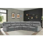 Mason - Carbon 6 PC Power Reclining Sectional