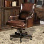 Brown Wipe Leather Desk Chair