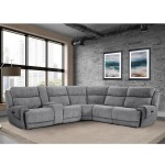 6pc  Power Reclining Sectional