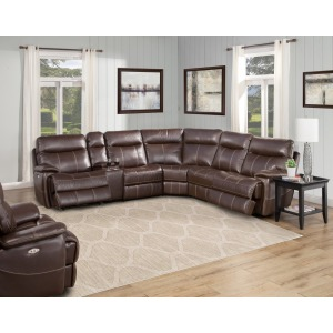 Dylan Mahogany 5PC Sectional