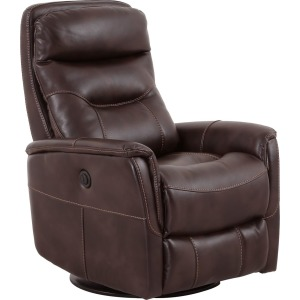 Gemini Truffle Power Swivel Glider Recliner