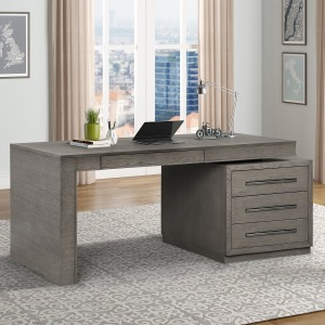 Pure Modern Executive Desk - Moonstone