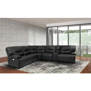 Spartacus Black 6PC Sectional