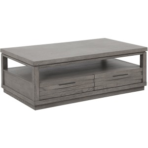 Pure Modern Rectangular Cocktail Table - Moonstone