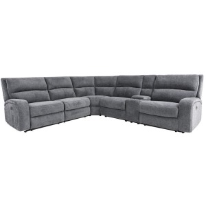 Polaris Bizmark Grey 6pc Reclining Sectional
