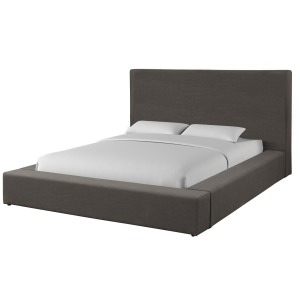 Heavenly - Flax Charcoal Queen Bed w/Comfort Pillows
