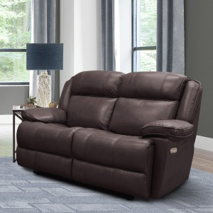 Eclipse Florence Brown Power Loveseat