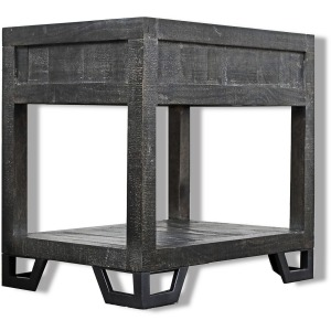 Veracruz Chairside Table - Rustic Charcoal