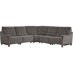 Chelsea 5 PC Power Reclining Sectional - Willow Brown