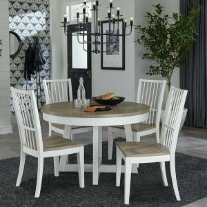 Americana Modern 48in Round Dining Table w/Leaf