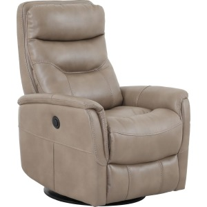 Gemini Linen Power Swivel Glider Recliner