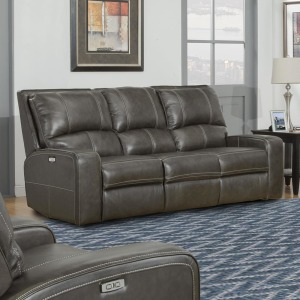 Swift - Twilight Power Dual Reclining Leather Loveseat